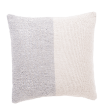 See Details - Light Grey & Natural Stripe Woven Pillow