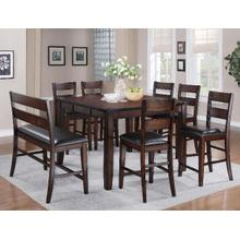 Maldives 6 Pc Espresso Counter Height Dinette Set by Crown Mark, Model 2760