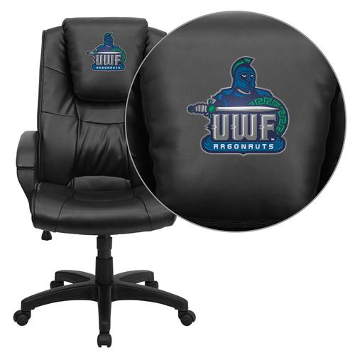 West Florida Argonauts Embroidered Black Leather Executive Office Chair