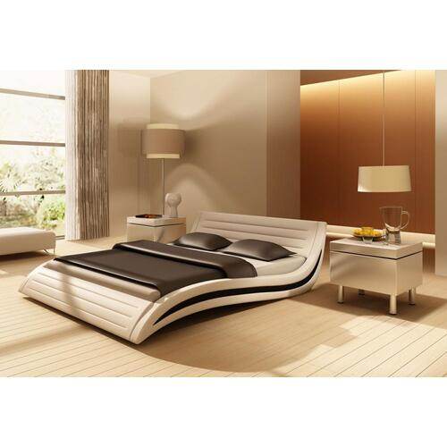 Modrest Apollo - Contemporary White Eco-Leather Bed