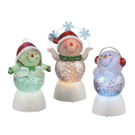 Lighted LED Snowman Mini Shimmers (3 asstd) Product Image
