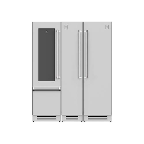 "Hestan - 66"" Wine Refrigerator (L), Column Freezer and Refrigerator ® Ensemble Refrigeration Suite - Sol"