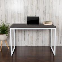 "Modern Commercial Grade Desk Industrial Style Computer Desk Sturdy Home Office Desk - 47""L - Rustic Gray"