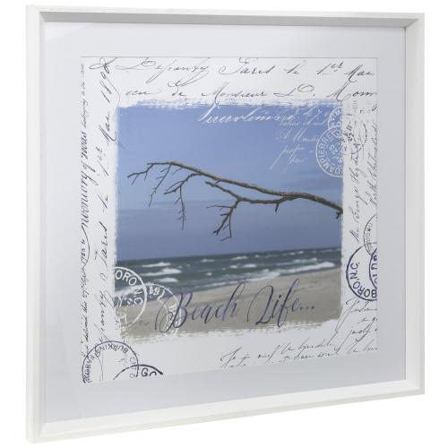 Style Craft - BEACH LIFE  25in w X 25in ht  Framed Print Under Glass with Matte