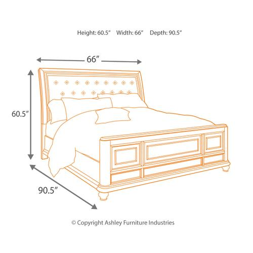 Ashley - California King Panel Bed With Dresser