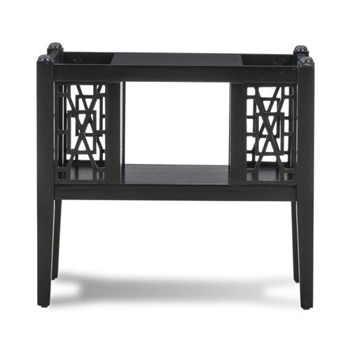 Open Shelf and 2-storage Space Magazine Table, Black