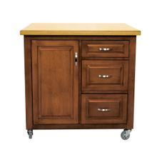 PK-CRT-04-NLO  Kitchen Cart  Two Tone  Light Walnut and Oak