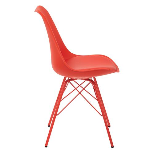 Emerson Student Side Chair With 4 Leg Base In Red Finish