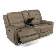 View Product - Wicklow Power Reclining Loveseat with Console and Power Headrests