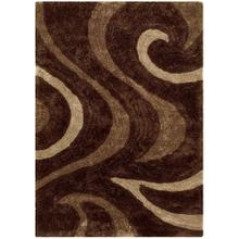 3D-806 CHOCOLATE Curl Wave Shaggy Rug