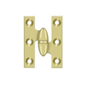 "Deltana - 2"" x 1-1/2"" Hinge - Polished Brass"