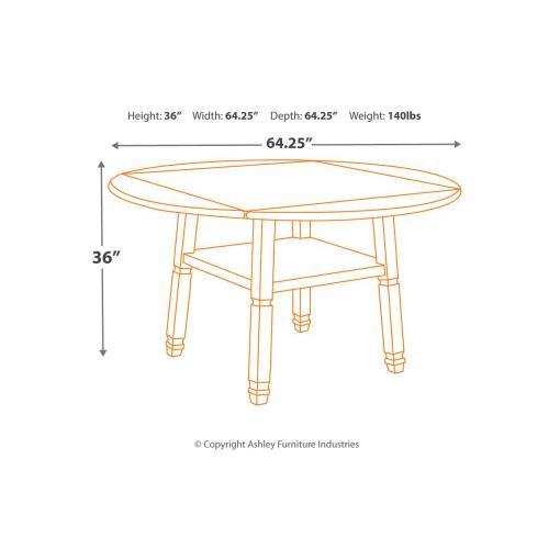 Bolanburg Round Drop Leaf Counter Table Antique White