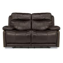 Product Image - Russell Leather Power Reclining Loveseat with Power Headrests