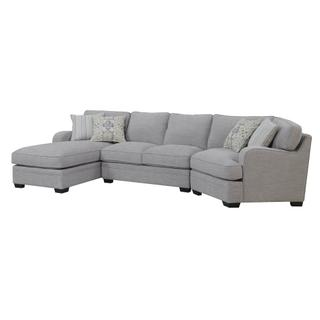 Emerald Home Analiese Sectional Linen Gray