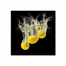 See Details - Three Lemons In Water Fine Wall Art