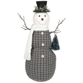 Stuffed Snowman Figurine - Lg.