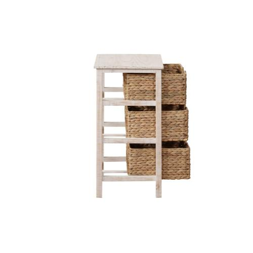 Removable 3 Seagrass Basket Stand, Natural Whitewash