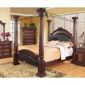 Grand Prado Cappuccino California King Poster Bed