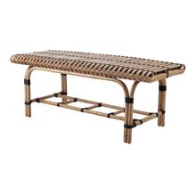 Baza Rattan Bench, Natural/ Black