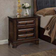 See Details - Broval 179 Light Espresso Finish Wood 2 Drawers Night Stand