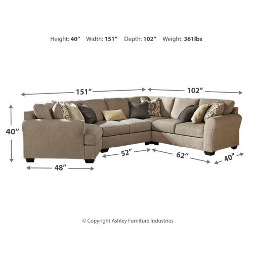 Pantomine 4-piece Sectional With Cuddler