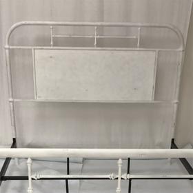 Queen Metal Headboard - Antique White