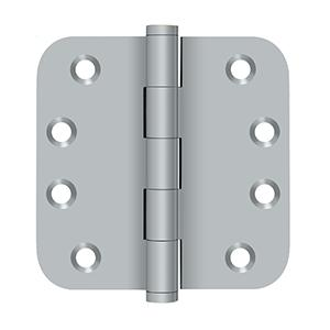 "4"" x 4"" x 5/8"" Radius Hinges - Brushed Chrome"
