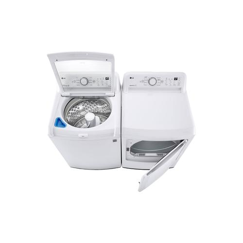 LG - 7.3 cu. ft. Ultra Large Capacity Top Load Electric Dryer with Sensor Dry Technology