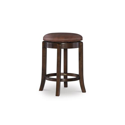 Upholstered Faux Leather and 360-degree Swivel Counter Stool, Espresso Brown
