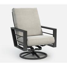 Sutton High Back Swivel Rocker Chat Chair - Cushion