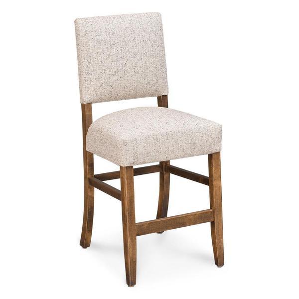 "See Details - Cornelia Stationary Barstool, 30"" Seat Height / Fabric Cushion Seat"