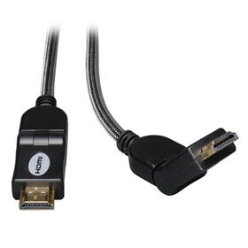 High-Speed HDMI Cable with Swivel Connectors, Digital Video with Audio, UHD 4K (M/M), 3 ft. (0.91 m)