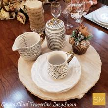 Travertine Lazy Susan