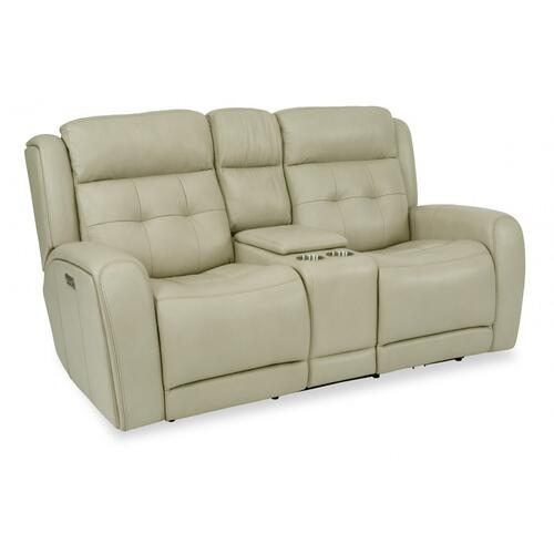 Grant Power Reclining Loveseat with Console & Power Headrests