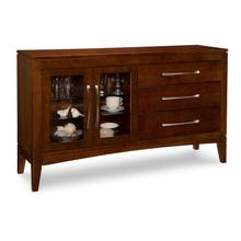 Catalina Sideboard with 2/Glass Doors on Left & 3/Drawers on Right & 2/Glass Adjust Shelves