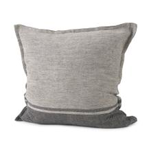 See Details - Zadie 20L x 20W Light Gray and Dark Gray Fabric Color Blocked Decorative Pillow Cover