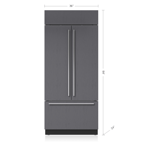 "36"" Classic French Door Refrigerator/Freezer - Panel Ready"