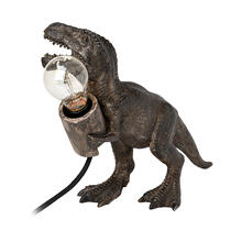 "See Details - Raptor (10.6""H) Dark Tone Resin Tyrannosaurus Rex Table Lamp"