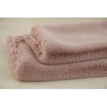 "Modern Soft Luxury Chinchilla Feel Faux Fur Throw by Rug Factory Plus - 50"" x 60"" / Rose"