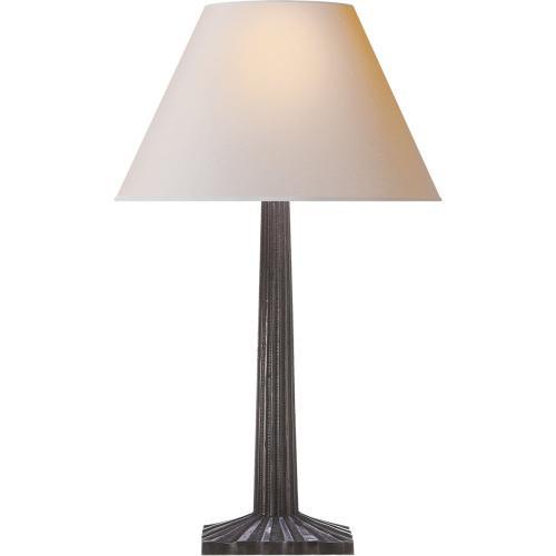 Visual Comfort CHA8707AI-NP E. F. Chapman Strie 30 inch 100 watt Aged Iron Decorative Table Lamp Portable Light