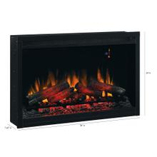 """See Details - 36"""" Traditional Built-In Electric Fireplace Insert, 240 Volt"""