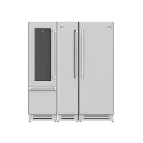 "Hestan - 72"" Wine Refrigerator (L), Column Freezer and Refrigerator ® Ensemble Refrigeration Suite - Bora-bora"