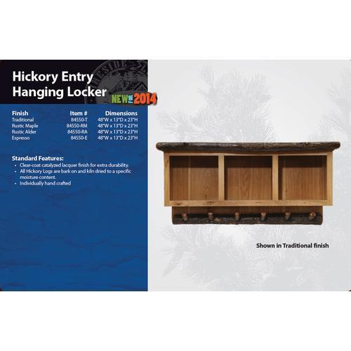 Fireside Lodge - Hickory Entry Hanging Locker