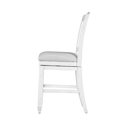 """Centerville 24"""" Swivel Upholstered Bar Stool, Antique White D727-24s-09"""