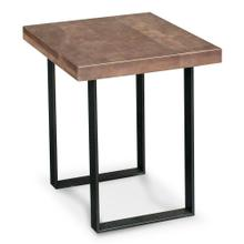 """View Product - Ironwood End Table, 16""""w x 26""""d x 24 """"h / Black Base"""
