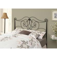 See Details - BED - QUEEN OR FULL SIZE / SATIN BLACK HEAD OR FOOTBOARD