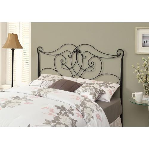 Gallery - BED - QUEEN OR FULL SIZE / SATIN BLACK HEAD OR FOOTBOARD
