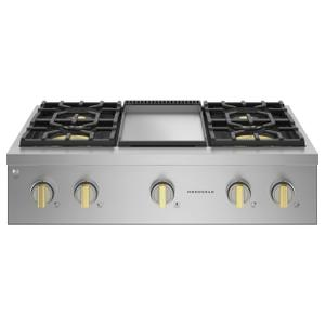 "Monogram 36"" Professional Gas Rangetop With 4 Burners And Griddle (Natural Gas) - Coming Spring 2021"