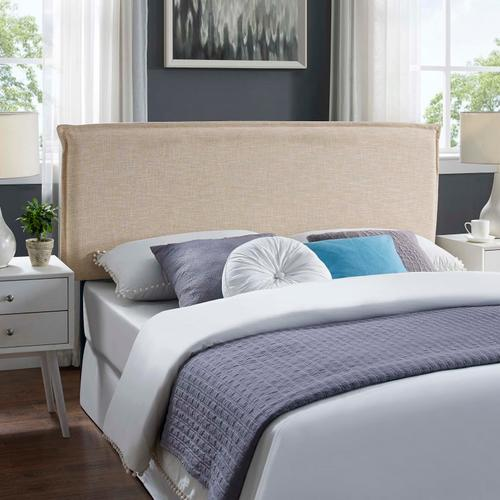 Modway - Camille Queen Upholstered Fabric Headboard in Beige