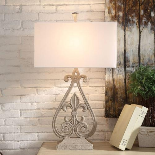 Crestview Collections - Fleur De Lis Table Lamp